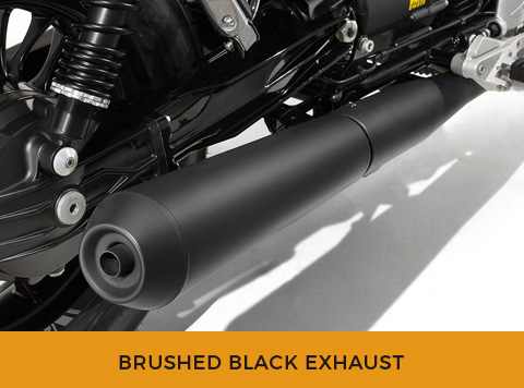 BRUSHED BLACK EXHAUST