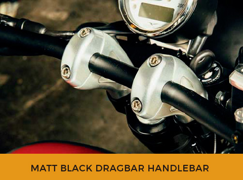 MATT BLACK DRAGBAR HANDLEBAR